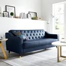 北歐輕奢皮沙發現代簡約客廳辦公室大小戶型皮藝沙發組合整裝家具  一米陽光