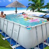 遊泳池 大型支架遊泳池成人家用超大兒童嬰兒泳池家庭加厚免充氣遊泳池igo  coco衣巷