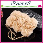 Apple iPhone7 4.7吋 Plus 5.5吋 淑女風皮套 珍珠玫瑰花保護殼 側翻手機殼 可插卡保護套 磁扣手機套