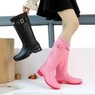 夏季雨鞋女高筒時尚韓國水鞋女雨靴長筒套鞋防水防滑外穿工作膠鞋 設計師生活百貨