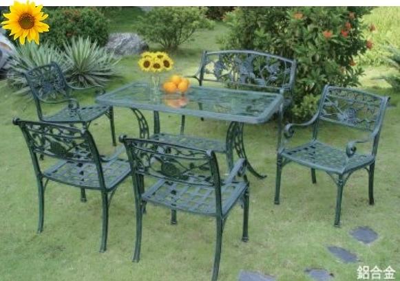 【南洋風休閒傢俱】戶外休閒桌椅系列-玫瑰情人桌椅組 戶外餐桌椅組 適民宿 餐廳 (#253 #20320)
