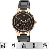 【台南 時代鐘錶 Roven Dino】羅梵迪諾 RD626BRG-456 楊丞琳代言 隨想曲三環日期腕錶 黑鋼 33mm