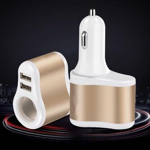 車用車充 3.1A 點煙器+雙USB 一托三 多功能插頭 手機充電 點菸器 充電器 快充 沂軒精品 A0315