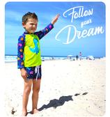 bayb儿童泳衣小男童连体泳衣小女孩连衣裙分体长袖防曬可爱游泳衣 歐韓時代
