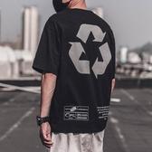夏天日系寬鬆T恤男圓領短袖體恤男ins韓版學生印花潮牌男生半袖潮