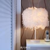 落地燈【現貨】歐式時尚羽毛落地台燈結婚慶北歐裝飾燈具臥室床頭創意客廳小燈飾 限時八五折