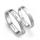 英文結婚時尚情侶鍍銀戒指環男女對戒 《小師妹》ps530