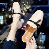 社會半托鞋女有跟包頭半涼拖鞋女網紅時尚超火外穿粗跟百搭 港仔會社