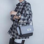 韓版男士單肩包撞色百搭斜背包情侶小背包街頭潮流郵差包男騎行包『伊莎公主』