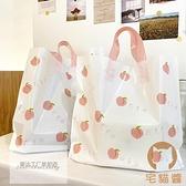 50個 塑料手提袋服裝店袋子購物袋化妝品飾品禮品袋【宅貓醬】