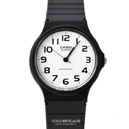 CASIO卡西歐經典基本款手錶 黑白對比配色中性款腕錶 超輕巧設計 柒彩年代【NE1335】原廠公司貨