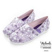 DISNEY 輕便俏皮 滿版米妮休閒懶人鞋-紫(女)