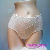 Chasney Beauty-Twist麻辮S蕾絲高腰包褲(白)