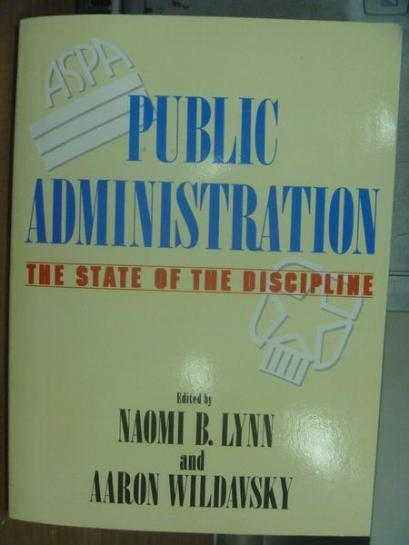 【書寶二手書T8/大學資訊_QAL】Public Administration_1990年