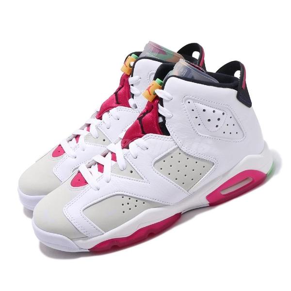 Nike Air Jordan 6 Retro GS Hare 兔寶寶 白紅 喬丹 6代 女鞋 大童鞋 【PUMP306】 384665-062