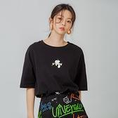 T恤 清新印花質感短袖T恤DU9600-創翊韓都