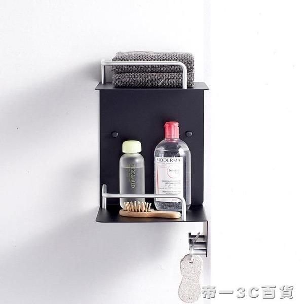 太空鋁浴室置物架2層三角形雙層架子廁所轉角架衛生間置物架壁掛【帝一3C旗艦】YTL