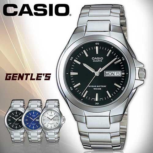 CASIO手錶專賣店 卡西歐  MTP-1228D-1A  男錶 黑面 指針式 防水50米 礦物玻璃 三折不繡鋼錶帶