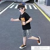 童裝男童牛仔夏裝套裝2021新款兒童中大童夏季男孩短袖夏款兩件套 夏季新品