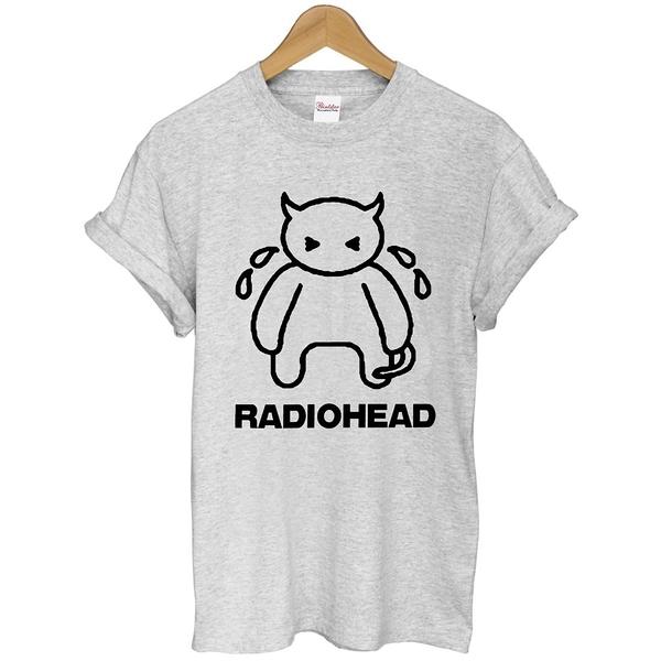 RADIOHEAD CRYING短袖T恤 2色 電台司令英國時尚潮設計搖滾街頭韓滑板插畫可愛 290 t