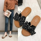 夏季新款拖鞋女韓版2020一字型蝴蝶結軟底百搭外穿時尚沙灘鞋 萬聖節鉅惠