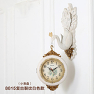 掛鐘 歐式孔雀雙面掛鐘客廳鐘表創意個性現...