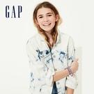 Gap女童做舊風格紮染牛仔外套577233-紮染靛藍色
