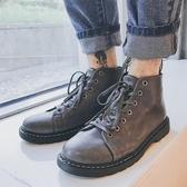 百搭馬丁靴男士新款潮流皮靴秋季韓版高筒鞋