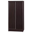 【采桔家居】羅倫 時尚2.9尺推門衣櫃/收納櫃(五色可選+吊衣桿)