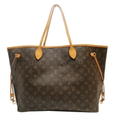 路易威登 LOUIS VUITTON LV 原花肩背包 購物袋 Neverfull GM M40157 【BRAND OFF】