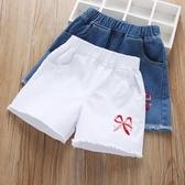 女童牛仔短褲夏裝2019新款兒童中大童薄款外穿洋氣白色百搭褲子潮 嬌糖小屋