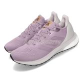 adidas 慢跑鞋 Astrarun W 紫 灰 女鞋 運動鞋 【PUMP306】 EG5835