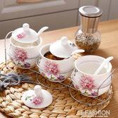 陶瓷調味罐廚房用品家用調料盒套裝組合裝調料瓶三件套油鹽罐·Ifashion
