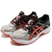 Asics 慢跑鞋 Gel-Contend 4 GS 黑 橘 入門款 舒適緩震 運動鞋 女鞋 大童鞋【PUMP306】 C707N-9306