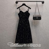 實拍大碼女裝2021年春季新款長袖金絲絨連身裙顯瘦時尚洋氣長裙【快速出貨】