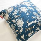 限量 方抱枕 Wonderland 藍色 45cmX45cm 復古 碎花 台灣製