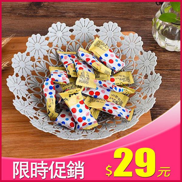 【晶輝居家】AA054*時尚鏤空水果糖果塑膠料水果藍歐式糖果盒子點心盤 藍色