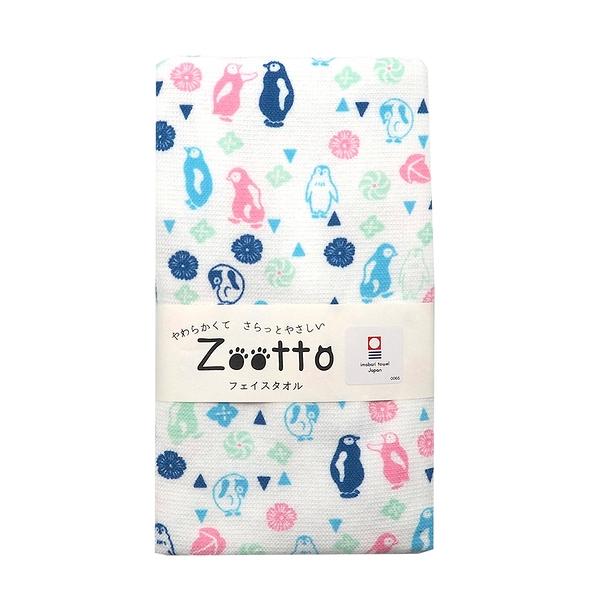 日本zootto今治純棉毛巾-企鹅