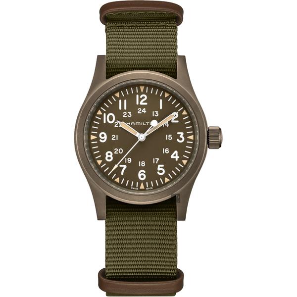 HAMILTON 卡其野戰系列手動上鍊軍錶-38mm H69449961