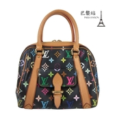 【巴黎站二手名牌專賣店】*現貨*LV 路易威登 真品*村上隆系列 M40097 Multicolor 黑彩手提包