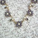 項鍊 華麗粉晶紫晶花 頸鍊 i917ღ...