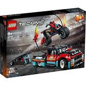 LEGO樂高 機械組系列 特技表演貨車及電單車 42106 玩具反斗城