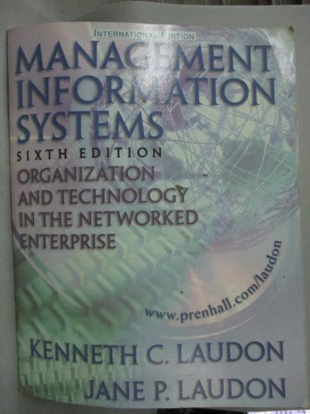 【書寶二手書T7/大學資訊_ZIIG】Management Information Systems: Organisat