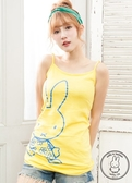 【2%】  miffyX2% 休閒細肩連身長版上衣-黃