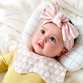 UNICO 嬰兒防吐奶純棉圍兜口水巾圍脖雙按扣款-菱格粉系列