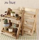 實木桌面小花架辦公室窗台架桌上迷你置物收納架組合盆栽架
