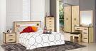 【森可家居】溫蒂5尺橡木紋雙人床組 7JF051-A 臥房間組 木紋質感 北歐工業風 MIT台灣製造