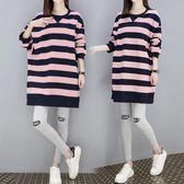 孕婦上衣孕婦秋裝時尚新款純棉孕婦兩件套夏中長上衣冬 Ic3560『俏美人大尺碼』