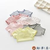 女童短袖嬰兒上衣童裝女寶寶半袖衣兒童純棉t恤夏【淘夢屋】