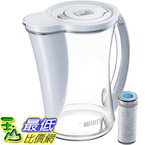 [9美國直購] Brita 水壺 Stream Water Pitcher with 1 Filter, 12 Cup, Ice B078L3ZP9Z